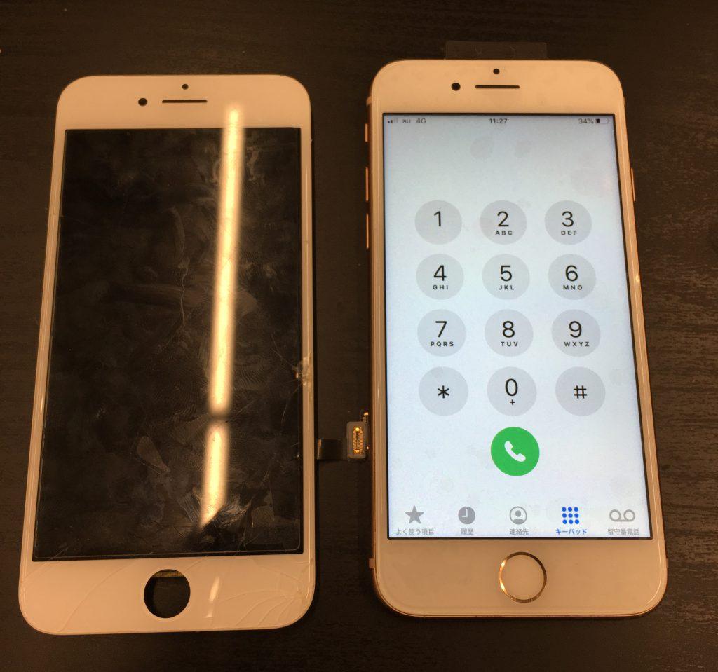 iPhone8画面修理、アイフォン8